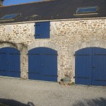 Porte de garage bois