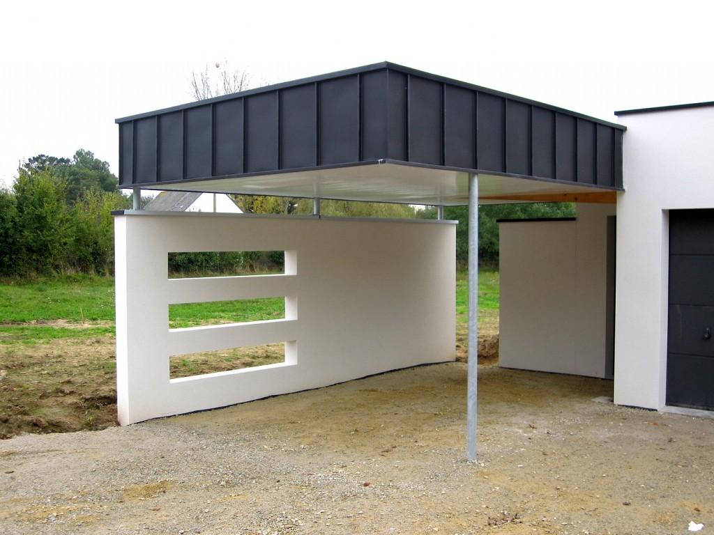 Carport toiture terrasse plate
